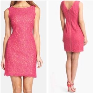 Adrianna Papell Peach Lace Dress